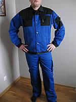 Куртка рабочая черный +синий