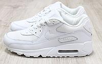 Кроссовки мужские кожаные Nike Air Max белые