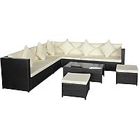 Комплект садових меблів. Кутовий диван XL з штучного ротангу, фото 1