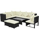 Комплект садових меблів. Кутовий диван XL з штучного ротангу, фото 2