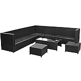 Комплект садових меблів. Кутовий диван XL з штучного ротангу, фото 3