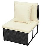 Комплект садових меблів. Кутовий диван XL з штучного ротангу, фото 4