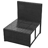 Комплект садових меблів. Кутовий диван XL з штучного ротангу, фото 5