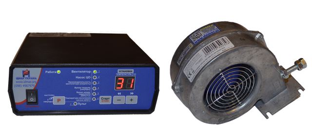 Автоматика и вентилятор для котлов Идмар GK-1