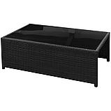 Комплект садових меблів. Кутовий диван XL з штучного ротангу, фото 6