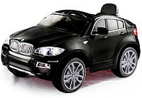 Эл-мобиль T-791 BMW X6 BLACK джип на р.у. 2*6V7AH мотор 2*35W с MP3 , фото 1