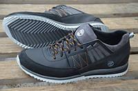 Кожаные кроссовки (спортивные туфли ) Timberland черные