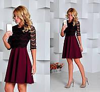 Женское стильное платье с гипюром (3 цветов), фото 1