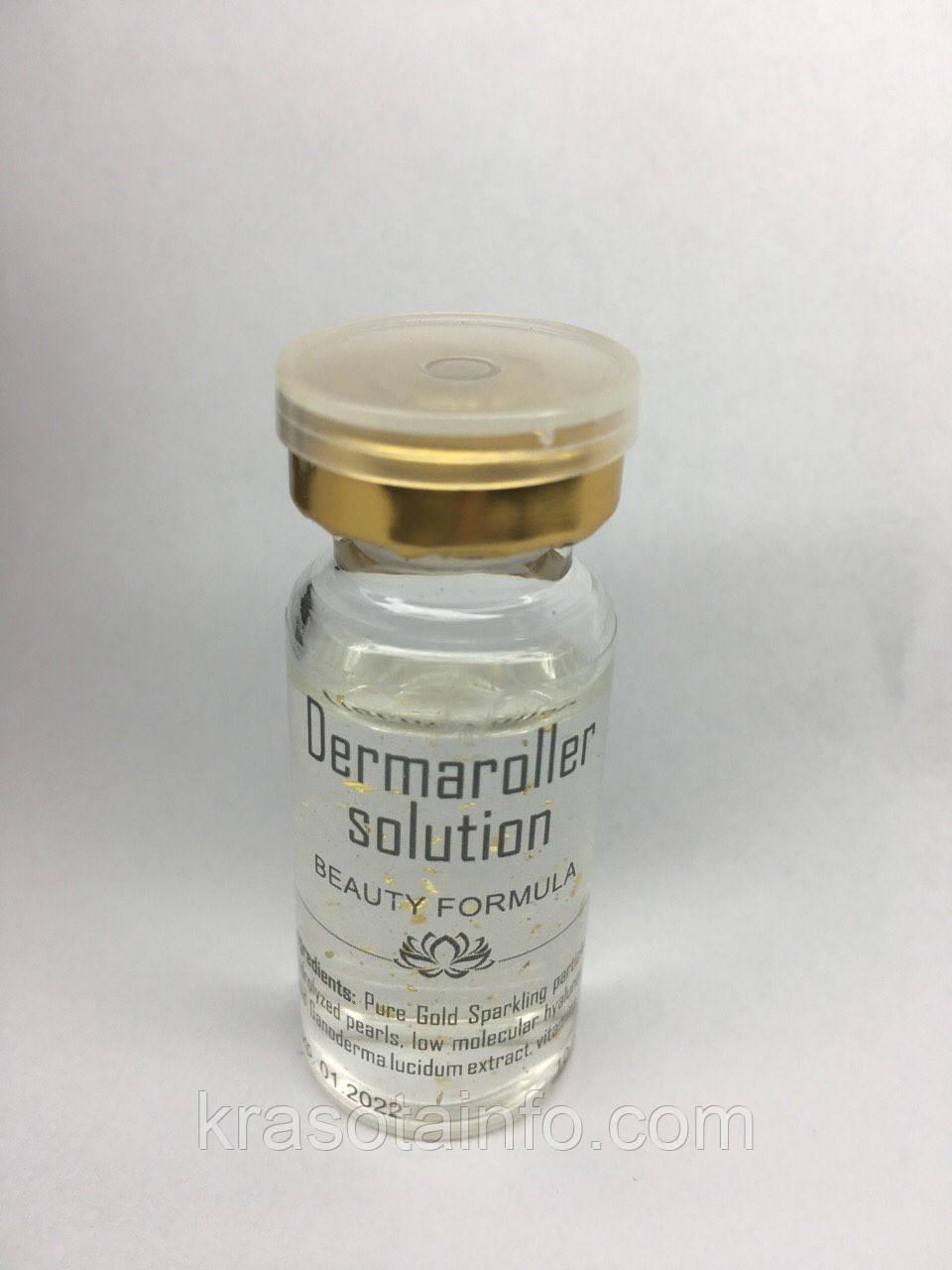 Концентрат для мезороллера антивозрастной гиалуроновая кислота с золотом, 10 мл.