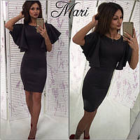 Женское стильное платье  С, Серый графит