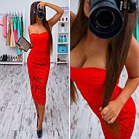 Женское красивое вечернее платье с кружевом (3 цвета), фото 1