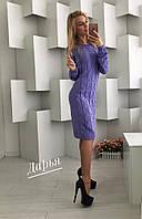 Женское стильное вязанное платье Коса (4 цвета) (Турция), фото 1