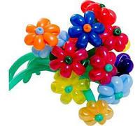 Цветок из шариков маленький 1 шт