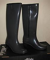 Сапоги резиновые женские ПС 20 Bellina (Alida) на молнии 38 темно-серые (антрацит)
