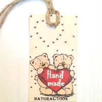 Бирка для мыла Мишки Тедди с сердечком