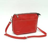 Женская кожаная сумка. Модель 21 красный флотар