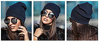Женская модная шапка ( 5 цветов) черный, единый