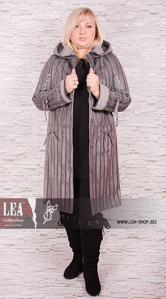 Куртка женская больших размеров с капюшоном на искусственно меху №5 СР
