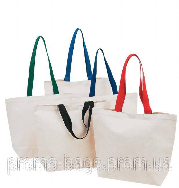 Эко сумка из хлопка с цветными ручками - Производственная компания ООО  «Промо-Сумка» 5dc04bf08b9