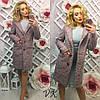 Женское модное шерстяное демисеззонное пальто прямого кроя
