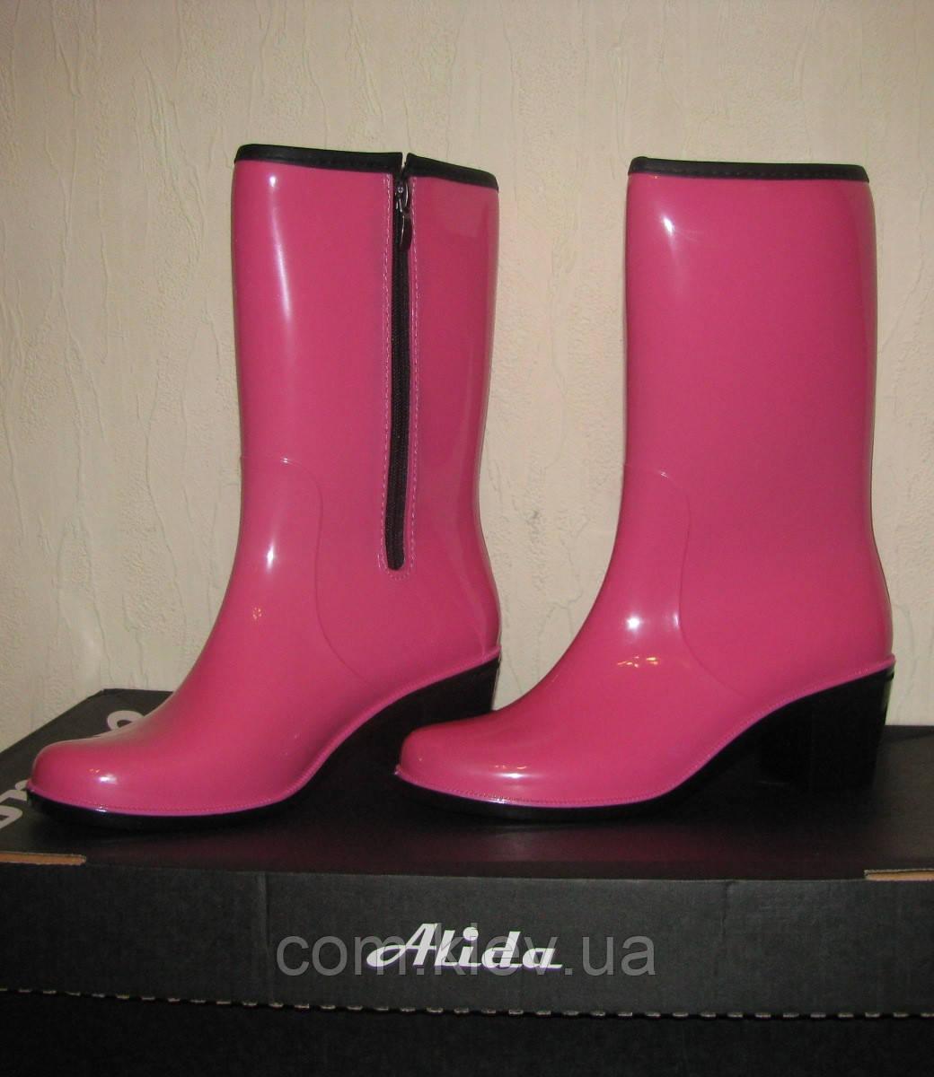 Сапоги женские резиновые ПС 20-2 Alida на молнии 39 (розовый)