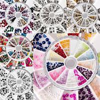 Набор каруселей с декором для дизайна ногтей, 12 шт