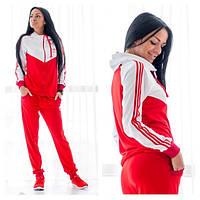 """Женский спортивный костюм """"Adidas"""" (красно-белый), фото 1"""