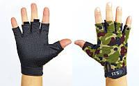 Перчатки тактические с открытыми пальцами 5.11 (р-р L,камуфляж Multicam)