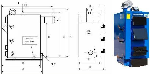 Схема котла Идмар GK-1-31 кВт