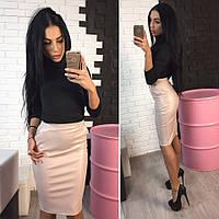 Женская модная юбка из эко-кожи (2 цвета), фото 1