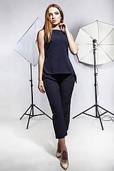 Костюм блуза короткий рукав+брюки.Размер: С,М,Л,ХЛ  Цвет: темно-синий, хаки  Ткань: костюмная диагональ