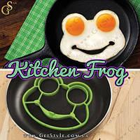 "Форма для яичницы - ""Kitchen Frog"" - 14 х 10 см."