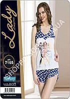 Женская пижама Lady Lingerie 7165, домашний костюм майка и шорты
