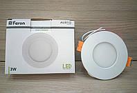 Светильник светодиодный Feron AL510 3W (LED панель)