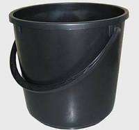 Ведро 10л черное полиэтиленовое