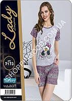 Женская пижама Lady Lingerie 7173, домашний костюм майка и шорты