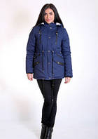 Молодежная куртка парка  стильная, модная  Афелия размеры 40, 42, 44, 46, 48