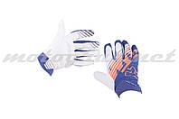 Перчатки AIRLINE KTM mod:028 бело-синие FOX