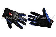 Мотоперчатки с защитой mod:HD-12 синие текстиль карбон SCOYCO