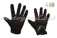 Мотоперчатки с защитой mod:MC-10 красные текстиль SCOYCO