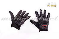 Мотоперчатки mod:MC-12 черные текстиль SCOYCO