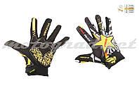 Перчатки черно-желтые PRO-BIKER AND MONSTER ENERGY