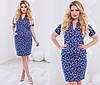 Женское красивое прямое платье с абстрактным принтом (2 цвета)