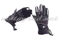 Мотоперчатки утепленные черные текстиль SCOYCO