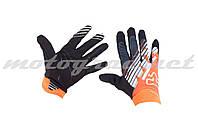 Перчатки AIRLINE KTM mod:028 черно-оранживые FOX
