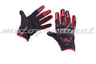 Перчатки BOMBER  черно-красные FOX  кожа текстиль