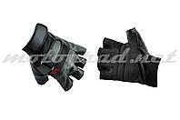Перчатки без пальцев mod:HD-11 кожзам-текстиль HAOLONG SPORTS