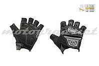 Перчатки без пальцев mod:MC-24D черные текстиль SCOYCO