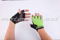 Перчатки без пальцев зеленые FOX