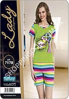 Женская пижама Lady Lingerie 7178, домашний костюм майка и шорты